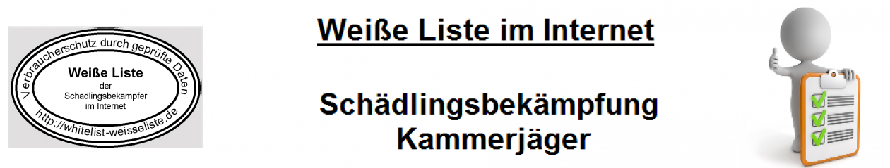 Weisse Liste Schädlingsbekämpfung