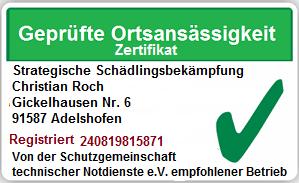 Schädlingsbekämpfung Rothenburg ob der Tauber, Kammerjäger Rothenburg ob der Tauber,